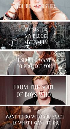 I don\'t like how they mixed the actors, original ones would be better but SECOND FAVORITEST QUOTE FROM THE BOOK. Jace is such a sweetheart he doesn\'t even know it ; Clace #ShadowhuntersTV