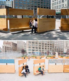 Really cleverly designed public sitting areas. Our city, squares and open public spaces should provide resting and socializing units for their citizens. Architecture Interactive, Plans Architecture, Landscape Architecture, Architecture Diagrams, Architecture Portfolio, Urban Furniture, Street Furniture, City Furniture, Furniture Stores