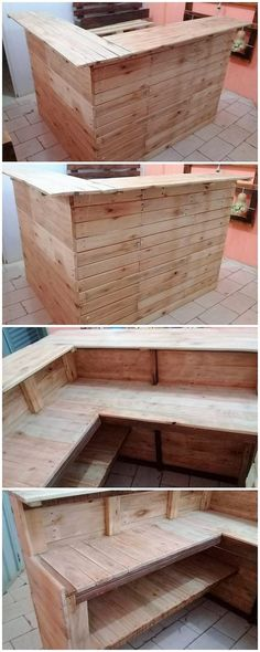 Giant and much innovative looking counter table piece of wood pallet has been put together in this image for you. It is being added with the little bar table effect work that makes it a superb option to add up in your house outdoor right now!