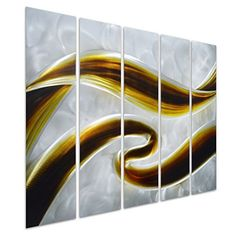 Pure Art Swirls of Color Abstract Metal Wall Art Decor Small Brown Hanging Sculpture of 5 Small Panels Modern Design of 34 x 24 *** Check this awesome product by going to the link at the image. (This is an affiliate link) Abstract Metal Wall Art, Metal Wall Art Decor, Home Wall Decor, Bible Verse Decor, Scripture Art, Christian Decor, Personalized Wall Art, Design Your Home, Creative Decor