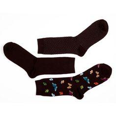 Butterfly Socks 3PK Multi, $12, now featured on Fab.