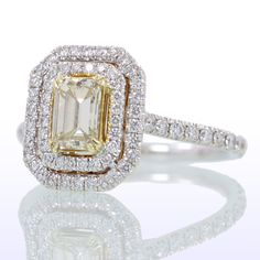 Emerald Cut Yellow Diamond Wedding Anniversary Ring by samnsue