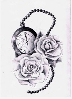Pocketwatch and roses