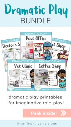 Motor Skills Activities, Preschool Learning Activities, Preschool Printables, Toddler Activities, Dramatic Play Area, Dramatic Play Centers, Play Based Learning, Learning Through Play, Role Play