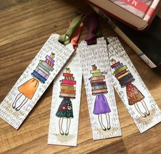 Lesezeichen Stampin up<br> Creative Bookmarks, Cute Bookmarks, Bookmark Craft, Paper Bookmarks, Ribbon Bookmarks, Watercolor Bookmarks, Watercolor Cards, Homemade Bookmarks, Bookmark Printing