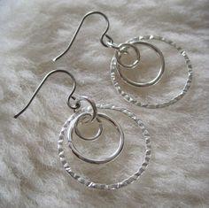 Niobium Earrings  Tres Textured Hypoallergenic by prettysensitive, $13.00