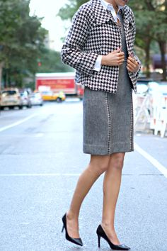 Jacket: old but similar here | Dress:Tory Burch (love this one and more below) | Shoes: Ralph LaurenShirt: Brooks Brothers...