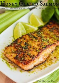 -      Honey Glazed Salmon         with Browned Butter Lime Sauce  -      by ksrose