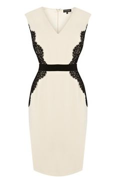 Pretty Lace Overlay Pencil Dress - I just tried on pencil dresses recently and they are very flattering. I think this lace detail would also be flattering and I love cream. Cute Dresses, Beautiful Dresses, Summer Dresses, Formal Dresses, Trendy Dresses, Robes D'occasion, Lace Overlay Dress, Bridesmaid Dress Styles, Dress Me Up