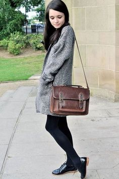 style, satchel, fashion, inspiration, brogues, patent shoes, long coat