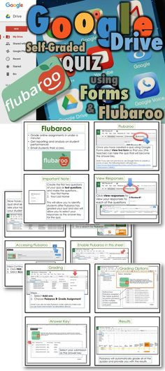 This lesson includes screen shots and step-by-step instruction bubbles to enable you to create a self-grading quiz using Google Forms and Flubaroo.