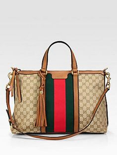 Gucci Rania Top Handle GG Canvas Bag - Sand Beige