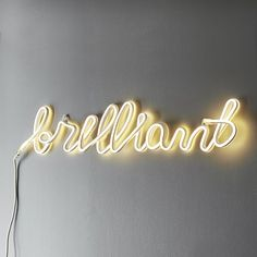 Brilliant Neon Wall Light | Havenly