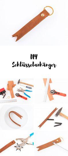 DIY Schlüsselanhänger aus Leder basteln - ein tolles DIY Geschenk für Männer