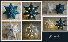 Svietiace vianočné hviezdy. Autorka: Anna-S. Papierové pletenie, paplet, vianoce, vianočný výzdoba. Artmama.sk