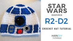 R2-D2 crochet hat tutorial free pattern star wars r2d2