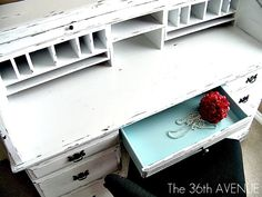 60 DIY Furniture Makeovers  - this sort of coloring/distressing for buffet