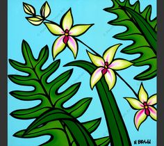 Orchid by Hawaii artist Heather Brown HeatherBrownArt.com #heatherbrown #hawaiiart #orchid