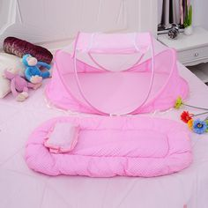 3-PCs Baby Mosquito Net Bed Mattress & Pillow   #Trend #Hot #New #Buy #Discount #Sale