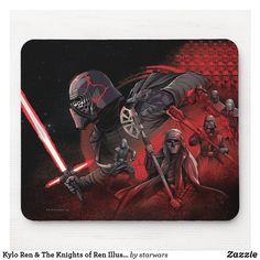 Kylo Ren & The Knights of Ren Illustration Mouse Pad Star Wars Origami, Dark Warrior, Knights Of Ren, Star Wars Design, Duck Tales, Star Wars Gifts, Batman Vs Superman, Custom Mouse Pads