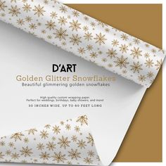 Beautiful glimmering golden snowflakes... #christmas #xmas #winter #snow #snowflakes #glitter #golden #gifts #december #presents #gold #bling #glimmer #wrappingpaper #zazzle #zazzler #zazzleshop #digitalartcreations