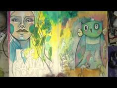 ▶ Processing Feelings through Creativity - Part 1 - Mixed Media Art with Willowing - YouTube
