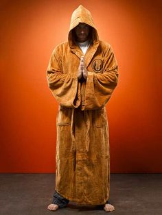 Star Wars Jedi Bathrobe - friend would LOVE this... he's not really a robe guy, but he could become one with this robe.