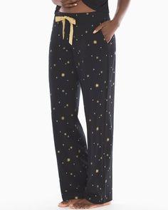 da0ca80e67 Soma Embraceable Pajama Pants Star Bright Black