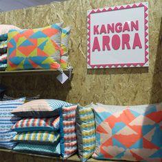 Kangan Arora's colorful cushions