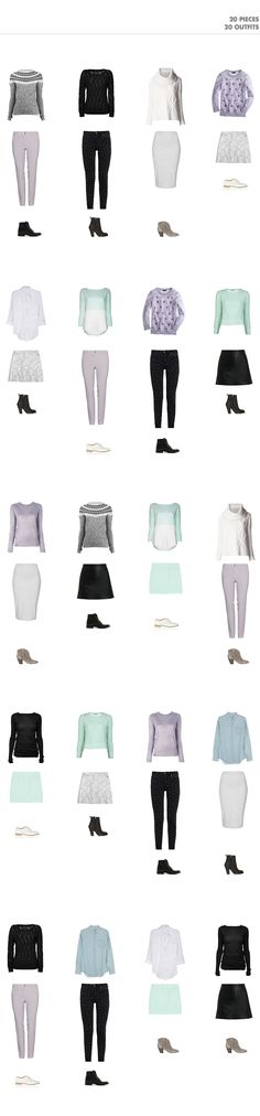 Winter Capsule Wardrobe: 20 Outfits with 20 Pieces / Capsule Wardrobe