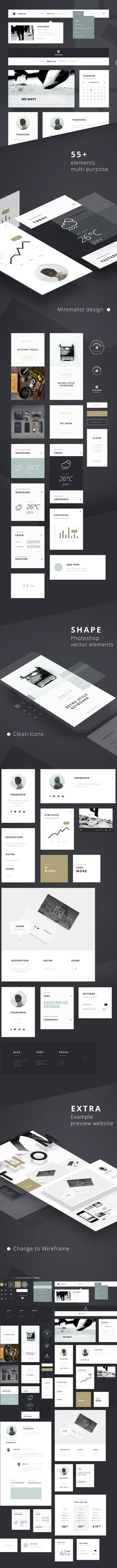 55-free-ui-kit-elements - UI-Kits