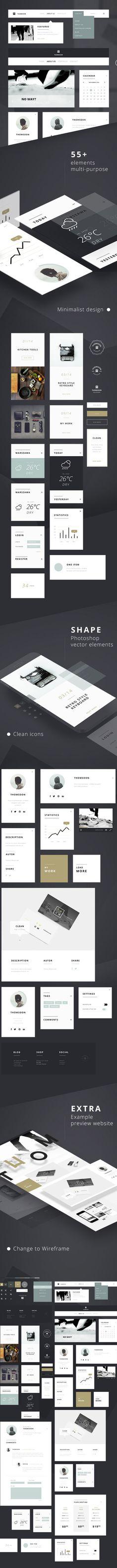 55-free-ui-kit-elements - UI-Kits