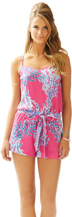 The perfect beachy romper // Dusk Romper Lilly Pulitzer
