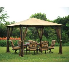 Gazebo 10ft x 10ft Mosquito Netting Outdoor Net Brown (gazebo sold separately).  #Unbranded
