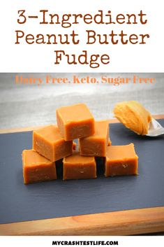 This is the creamiest and dreamiest peanut butter fudge. Using coconut cream and peanut butter, this dairy-free fudge comes together in minutes. Dairy Free Fudge, Sugar Free Fudge, Sugar Free Desserts, Low Carb Desserts, Dairy Free Recipes, Keto Recipes, Coconut Peanut Butter, Peanut Butter Fudge, Natural Peanut Butter