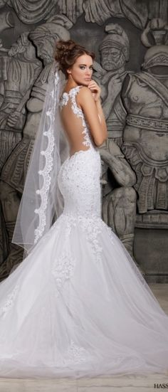 Hassan Mazeh mermaid wedding gown