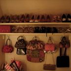 Walk in Closet with storage for Shoes and Handbags - Traditional - Closet - other metro - by Tim Wood Limited
