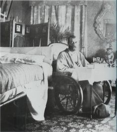 Tsar Nicholas II recovering from typhoid in 1900.