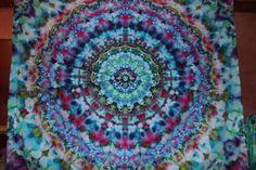 Ice Dye Mandala Tapestry | Tie Dye                              …