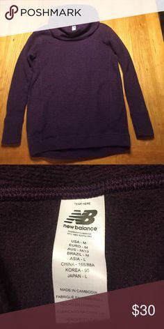 New balance soft turtleneck sweater Super soft and cozy new balance sweater! Dark purple. New Balance Sweaters Cowl & Turtlenecks
