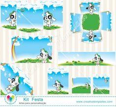 Kit festa Doki mod:821 Doki, Country Of Origin, Tags, Birthday, Crafts For Children, Party Kit, Fiestas, Stuff Stuff, Printables
