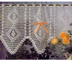 free crochet lace curtain patterns by Crochet Knitting, via Flickr