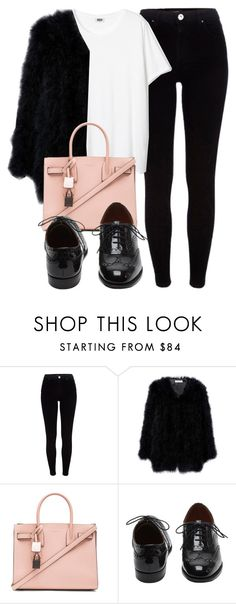 """Untitled #5243"" by laurenmboot ❤ liked on Polyvore featuring River Island, Yves Saint Laurent and Mulberry"