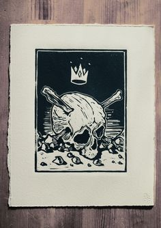 Lino prints by Daniel Schooler, via Behance