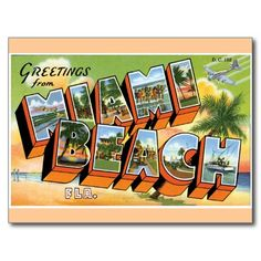 Greetings from Miami Beach, Florida Post Card