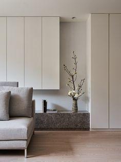 Home Interior Design, Interior Styling, Interior Architecture, Diy Bookshelf Design, Living Tv, Tv Unit Furniture, Bedroom Bed Design, Minimal Bedroom, Living Room Storage
