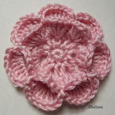 Floating Crochet Flower | AllFreeCrochet.com ~ intermediate skill ~ add a button in the center for a different look ~ FREE CROCHET
