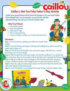Caillou Father's Day Activity – Fishing Rod