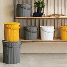 Hachiman Mini Mustard Omnioutil Storage Bucket with Lid - Trouva Storage Buckets, Toy Storage, Storage Containers, Bucket With Lid, Water Bucket, Brooklyn Style, Multifunctional, One Color, Neutral Colors