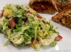 Surówka z sosem musztardowym Cabbage, Tacos, Food And Drink, Dinner, Vegetables, Ethnic Recipes, Kitchen, Dining, Cooking